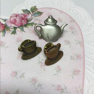 Tea Time Pin Set